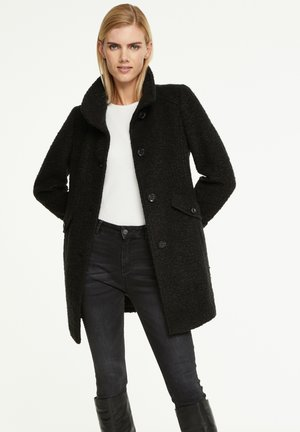 MIT RIEGEL-DETAILS - Short coat - black