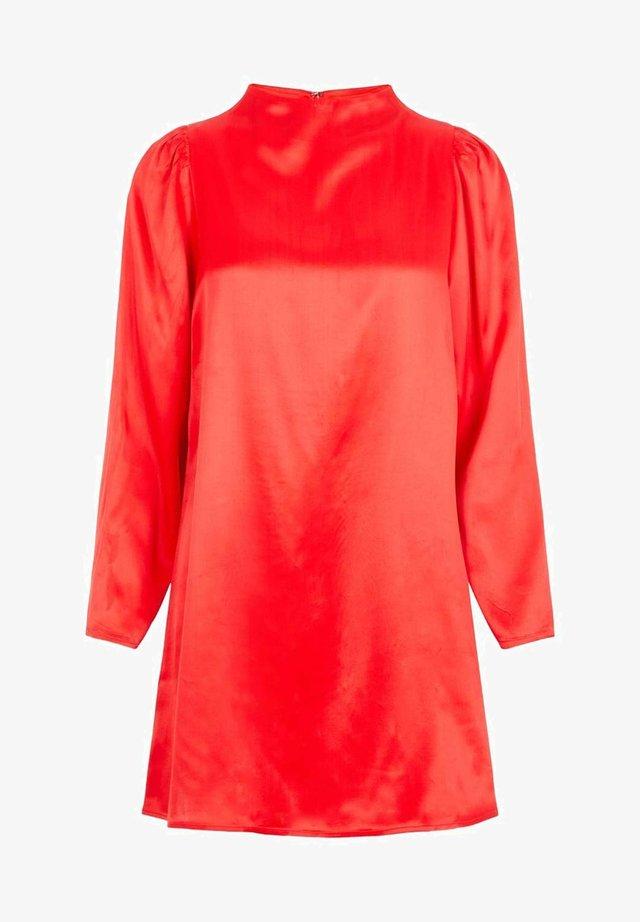 SEIDIGES - Korte jurk - tomato