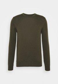 J.LINDEBERG - LYLE CREW NECK - Stickad tröja - moss green - 4