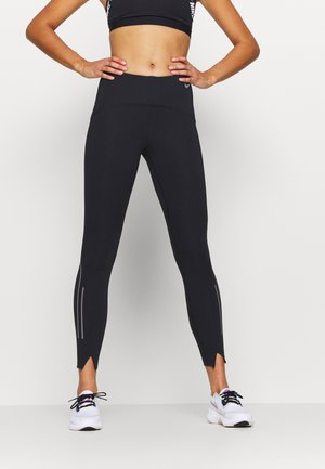 SPEED 7/8 MATTE - Legginsy - black/gunsmoke