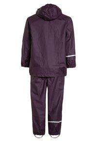 CeLaVi - RAINWEAR SUIT BASIC SET WITH FLEECE LINING - Rain trousers - blackberry wine - 1