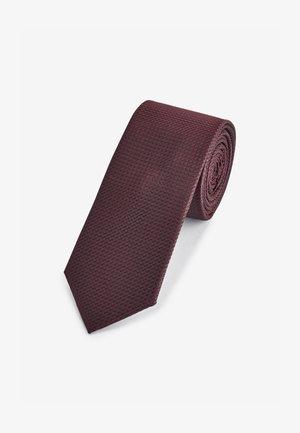 TEXTURED TIE - Slips - dark purple