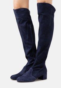 L'Autre Chose - BOOT ZIP - Stivali sopra il ginocchio - abyss - 0