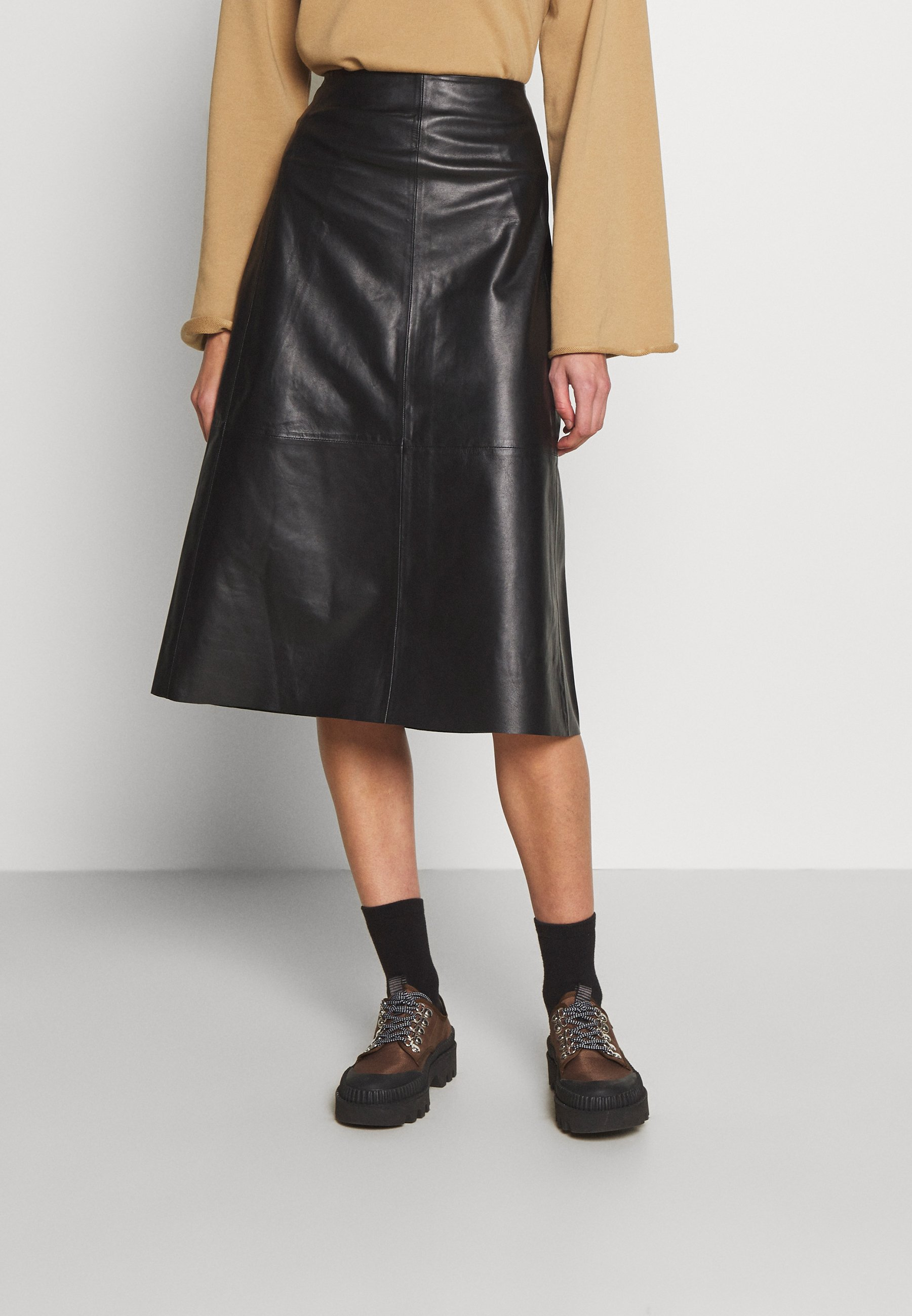Women MARVIN - Leather skirt
