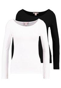 Anna Field Petite - 2PACK  - Bluzka z długim rękawem - black/white - 0