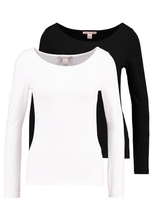 2PACK  - T-shirt à manches longues - black/white