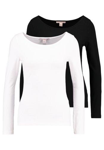 2PACK  - Bluzka z długim rękawem - black/white