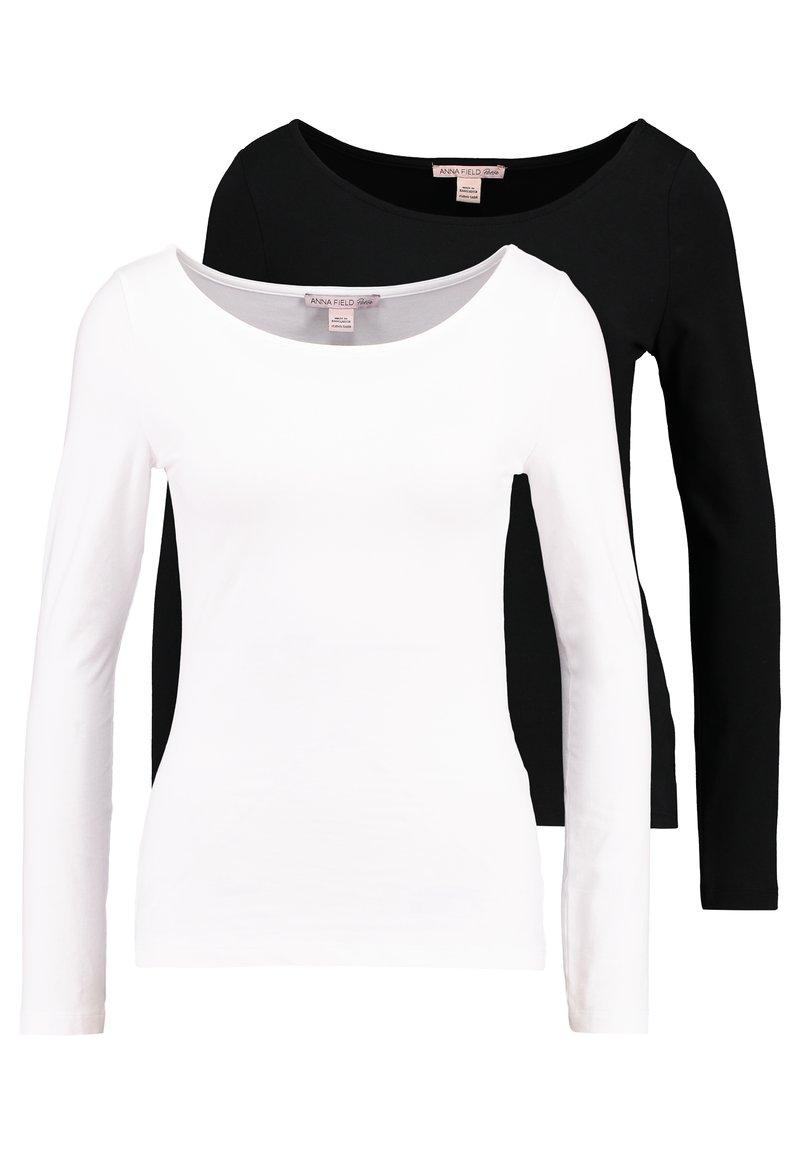 Anna Field Petite - 2PACK  - Bluzka z długim rękawem - black/white