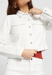 Pieces - Denim jacket - bright white - 3
