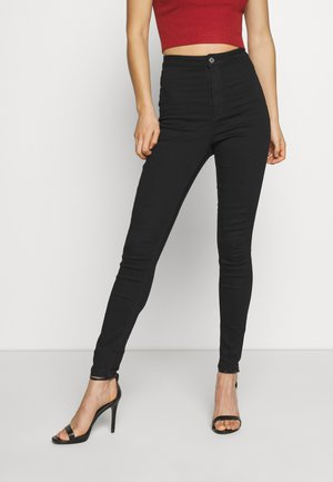 VICE HIGH WAISTED - Vaqueros pitillo - black