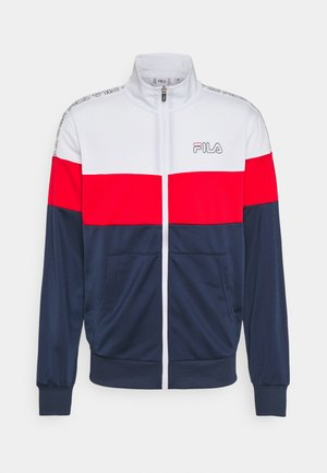 JAIRUS TAPED TRACK JACKET - Veste de survêtement - bright white/black iris/true red