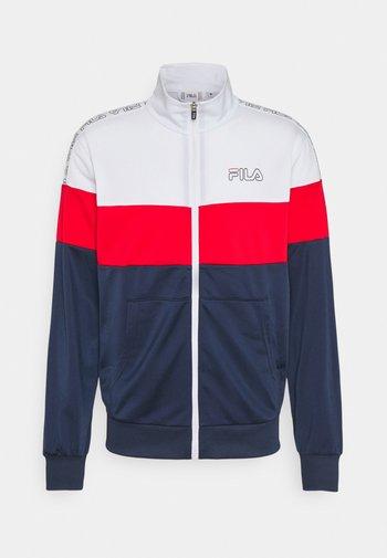 JAIRUS TAPED TRACK JACKET - Sportovní bunda - bright white/black iris/true red