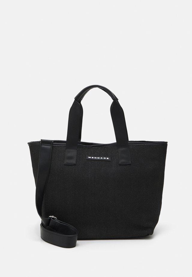 BEACH TOTE UNISEX - Tote bag - black