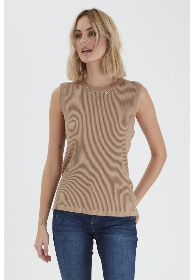 SARA - Sweter - tannin melange