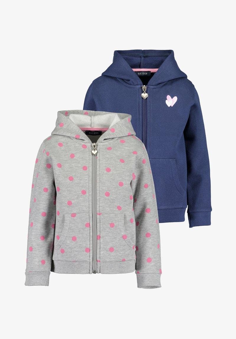 Blue Seven - BASICS - Zip-up sweatshirt - m01 - dk blau + nebel mel aop