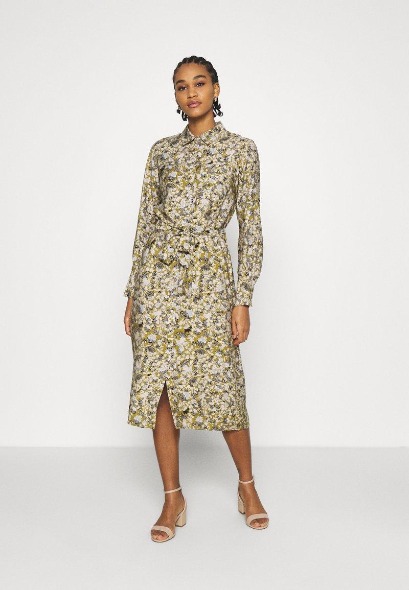 Object - OBJAZZA DRESS - Košilové šaty - khaki