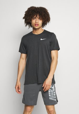 Basic T-shirt - dark smoke grey/black
