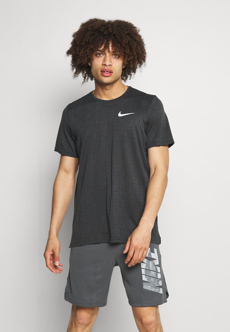 Nike Performance - T-paita - dark smoke grey/black