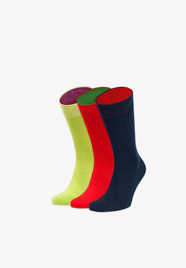 DREISATZ 3 PACK - Chaussettes - grün,rot,blau