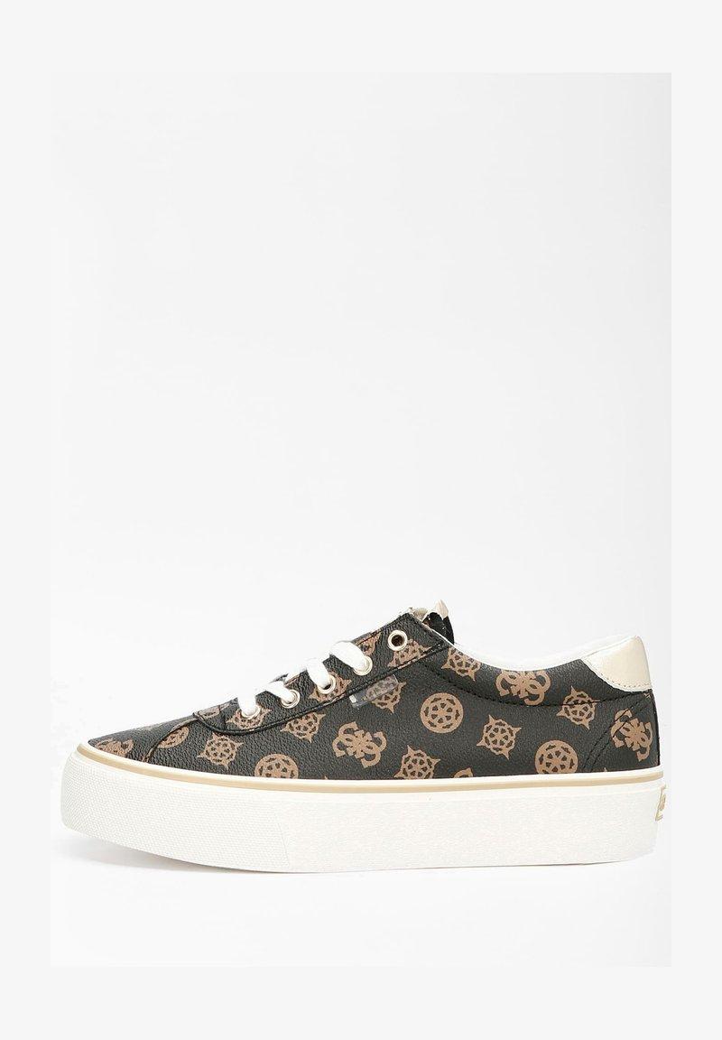 Guess - SANAM - Sneakers laag - mehrfarbig braun