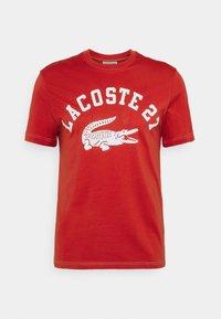 Lacoste - Print T-shirt - cinabre - 6