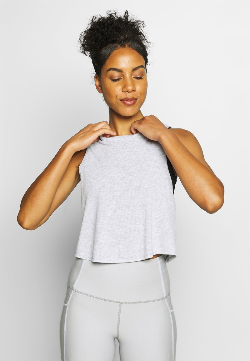 Cotton On Body - CROSS BACK TANK - Top - grey marle
