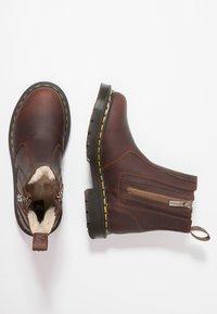 Dr. Martens - 2976 ALYSON ZIPS SNOWPLOW - Classic ankle boots - dark brown - 3