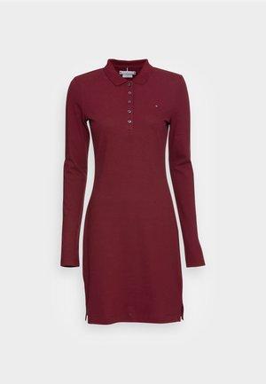 LONG SLEEVE SLIM DRESS - Day dress - deep rouge