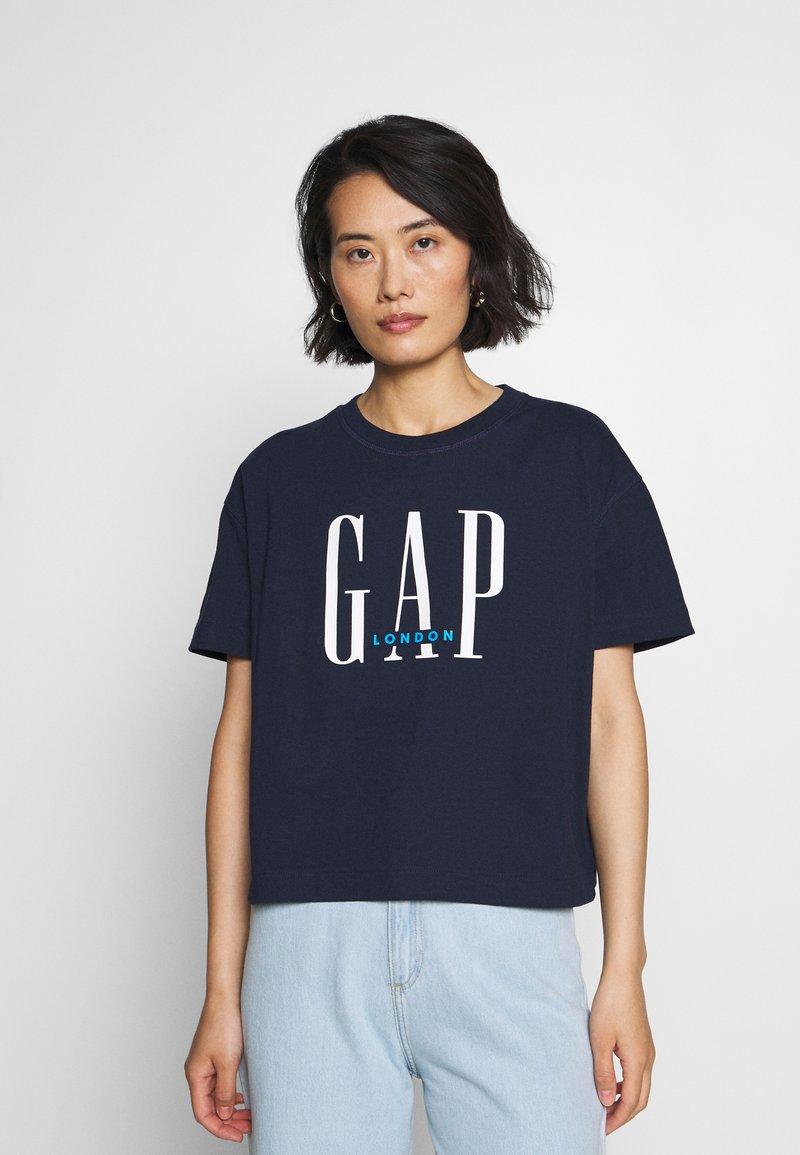 GAP - T-shirt z nadrukiem - navy