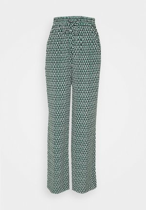 CREPE WIDE LEG GEO PANT - Trousers - primary green