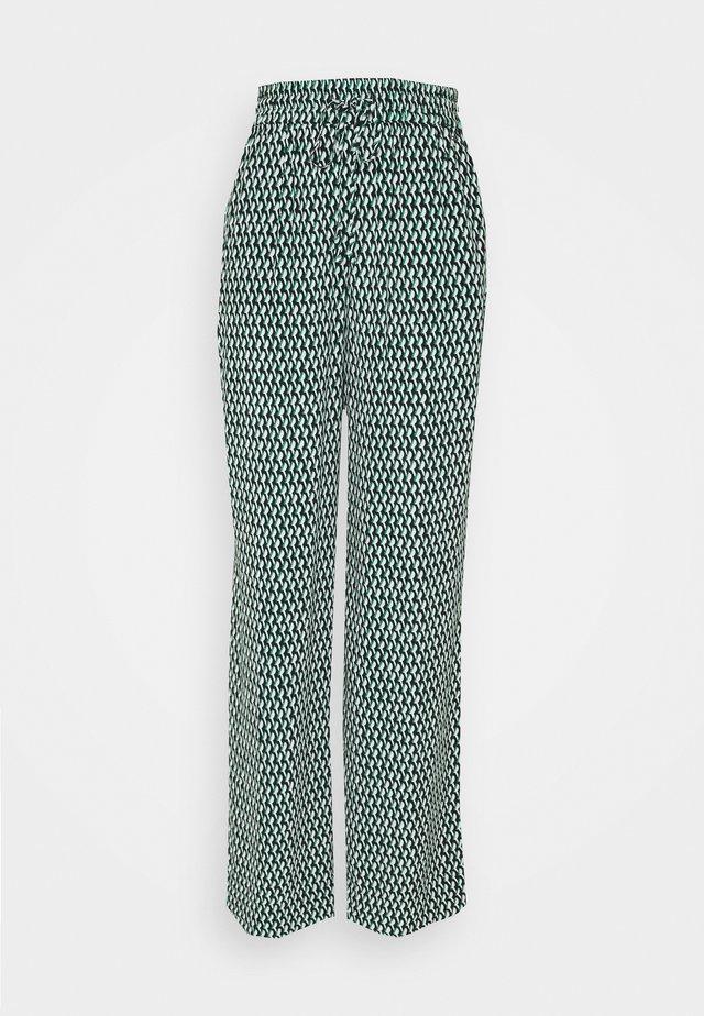 CREPE WIDE LEG GEO PANT - Kalhoty - primary green