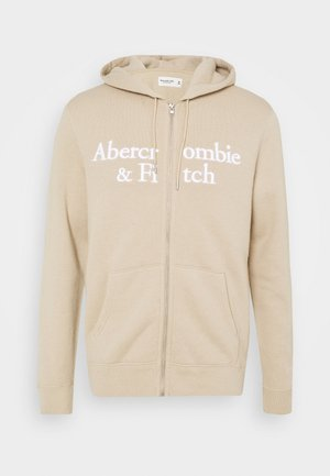 TONAL TECH LOGO - Zip-up hoodie - tan