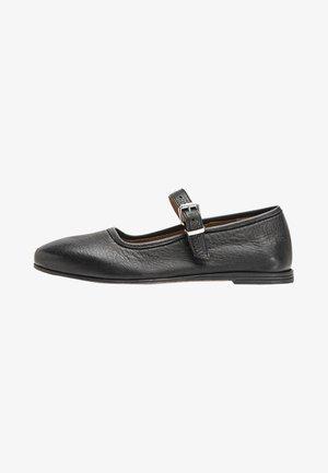 Ankle strap ballet pumps - black blk