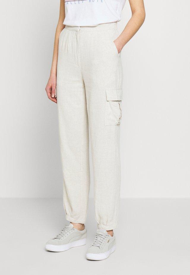 CARGO PANTS - Trousers - beige