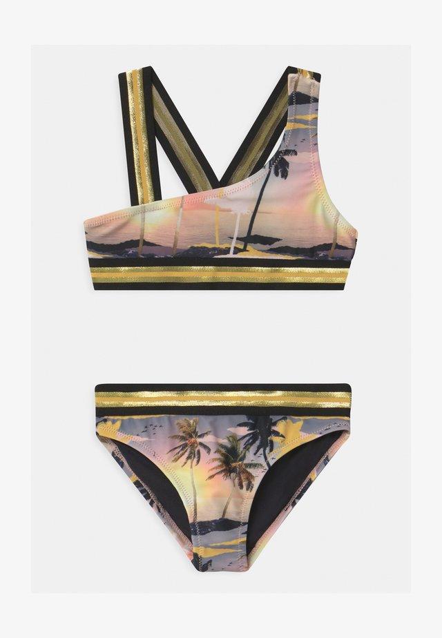 NICOLA - Bikini - black/pink