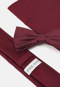 Pier One - SET - Krawat - bordeaux - 5