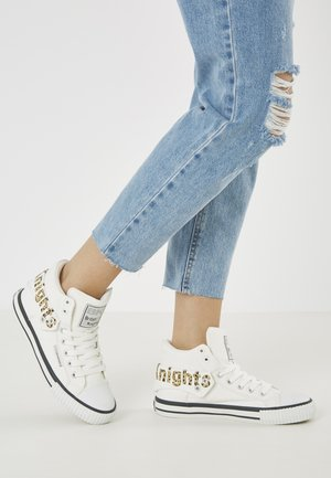 ROCO - High-top trainers - white/leopard