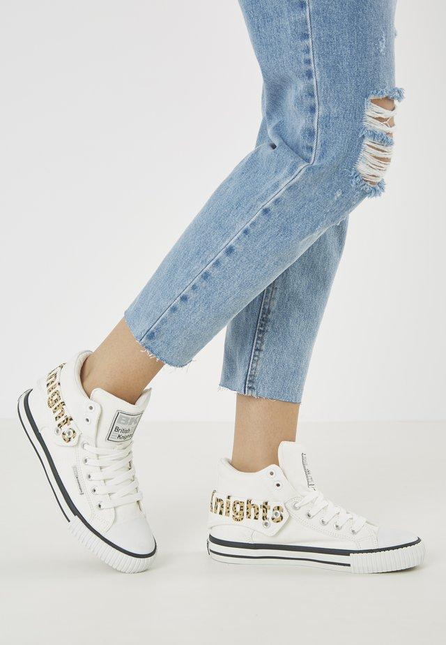 ROCO - Sneakersy wysokie - white/leopard