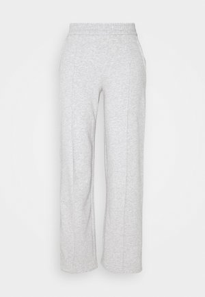 JDYLINE PINTUCK SWEAT PANT  - Tracksuit bottoms - light grey melange