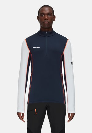 AENERGY ML HALF ZIP - Bluza z polaru - marine/white