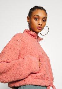 Topshop - BORG FUNNEL POCKET - Fleece jumper - pink - 3