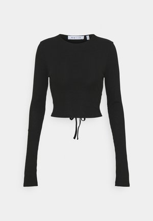 CUTOUT TIE BACK - Long sleeved top - black
