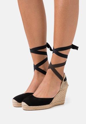 CARNOT - Sandały na platformie - black