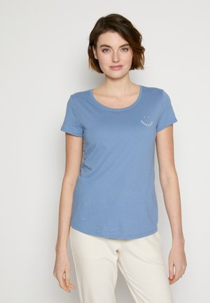 Print T-shirt - soft mid blue