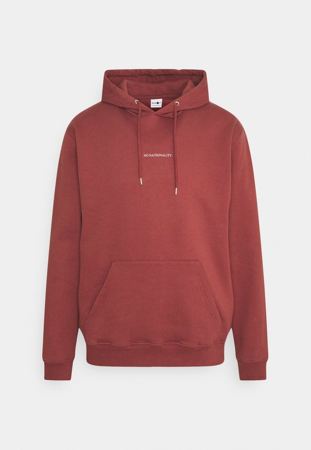 BARROW PRINTED HOODIE - Huppari - burned red