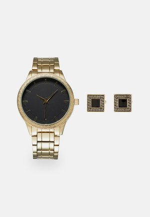 WATCH CUFFLINK SET MANSCHETTENKNÖPFE - Reloj - gold-coloured