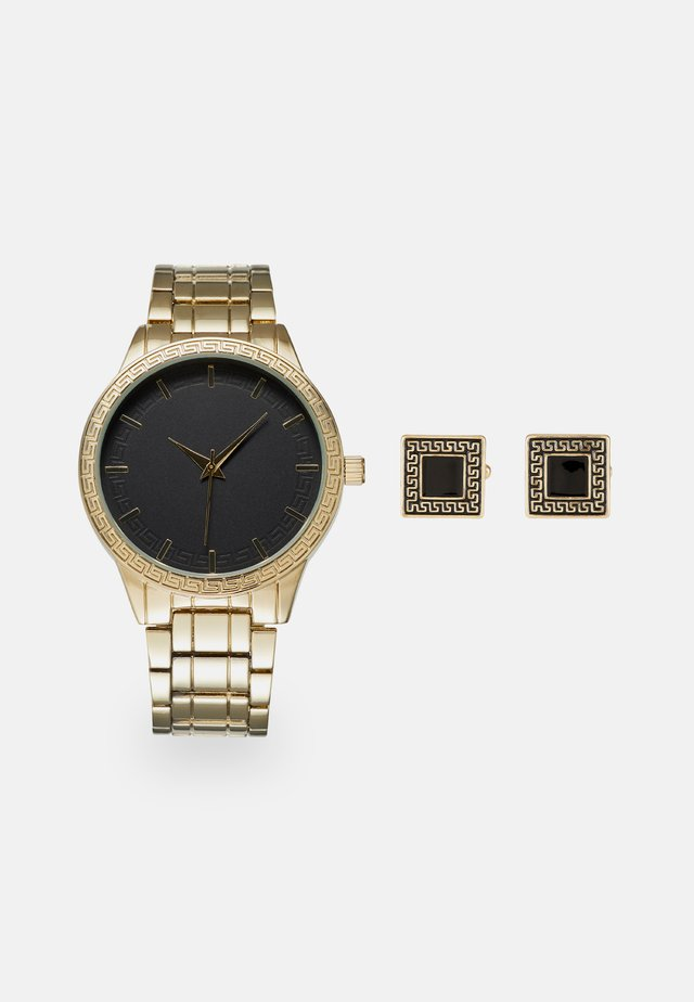 WATCH CUFFLINK SET MANSCHETTENKNÖPFE - Reloj - gold-coloured
