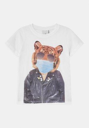 BIKER - Print T-shirt - bright white