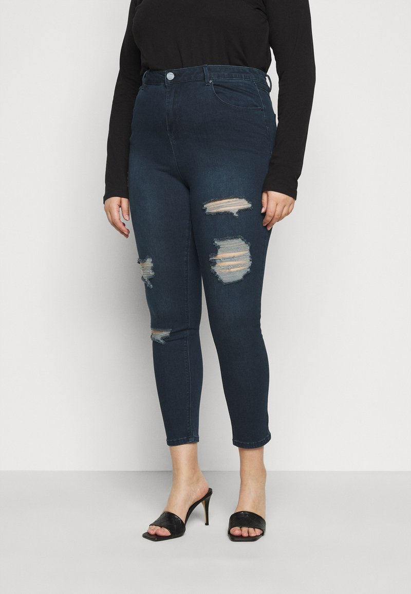 Simply Be - HIGH WAIST  - Jeans Skinny Fit - indigo