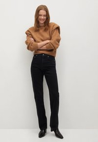 Mango - Straight leg jeans - black denim - 1
